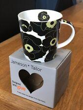 """Jameson & Tailor Porcelain Mug / Cup """"Flower Decor Black"""" Designed With Love"""