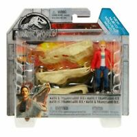 JURASSIC WORLD PACK 2 PERSONAGGI MAISIE E TIRANNOSAURO NUOVO ORGINALE