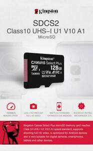 Kingston CANVAS Select Plus Micro SD card 16G 32GB 64GB 128GB Class 10 Original