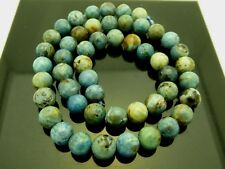 """Natural Genuine Blue African Opal Smooth Round 8mm Gemstone Beads Strand 15.5"""""""