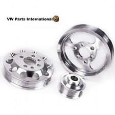 VW Golf MK4 1.8T 20v 3 Piece Aluminium Performance Engine Pulley Set New Upgrade