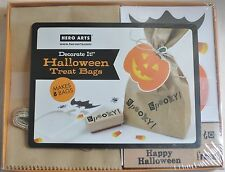 Halloween Treat Bags Decorate Kit Stamps Favor Cutouts Messages Craft Lot Fun
