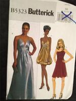 Butterick Sewing Pattern 5323 Misses Ladies Lined Dresses Size 16-24 uncut