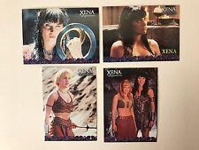 PROMO CARDS: XENA WARRIOR PRINCESS SEASONS 4&5 2001: 4 DIFFERENT #P1 P2 P3 & P4
