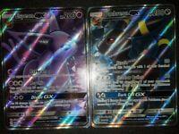 FULL ART Espeon + Umbreon GX ULTRA RARE 140/149 142/149 Sun Moon (Base Set) - LP
