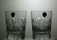 2 WATERFORD MILLENNIUM COLLECTION TOASTING DOUBLE OLD FASHIONED TUMBLERS BOX