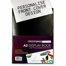 Premier A2 40 Pocket (80 View) Black Presentation Display Book Art Folder x1