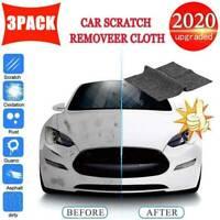 3PCS NANO Magic Car Scratch Remover Polish Cloth Light Paint Scuffs Surface AU
