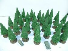 30 small model  Conifer trees for 6mm, 1/285th, 1/300th scale wargames
