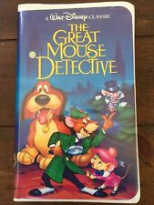 Rare Vintage The Great Mouse Detective (VHS) Walt Disney's Black Diamond Classic