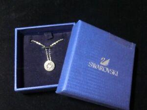Swarovski beautiful & charming round stone pendant with box from Japan