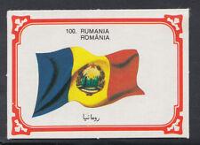 Monty Gum 1980 Flags Cards - Card No 100 - Romania (T663)
