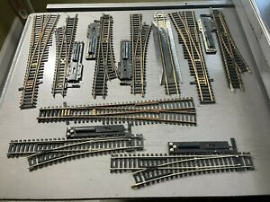 Huge Lot HO Scale ATLAS Track w/ 9 Switches Straight Track, Curved Track More