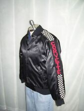 VTG Chevy Corvette Checkered Flag Satin Jacket sz Med
