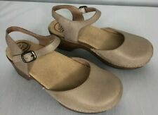 Dansko womens size 8 shoes tan leather Mary Janes adjustable straps