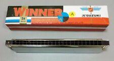 Harmonica Suzuki Winner Tremolo 24 A  W24 W-24 Key of A Japan Brand Japanese