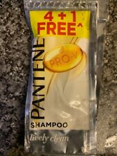 7x Pantene Pro-V Shampoo Lively Clean Control Travel Holiday Pouch Sachet 8.5ml