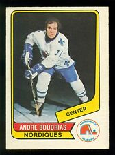 1976 77 OPC O PEE CHEE WHA #87 ANDRE BOUDRIAS NM QUEBEC NORDIQUES HOCKEY CARD
