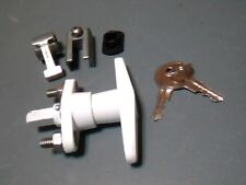 T-Handle Shutter Lock, Accordion Hurricane Shutter Lock Kit, WHITE, New