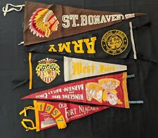1940s Pennant Lot - Ringling Bros Circus College Football Army West Point (5pcs)