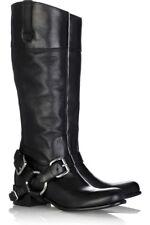 NEW Prada/MIU MIU Motorcycle/Biker Removable Harness Buckle Leather Boots 36/6
