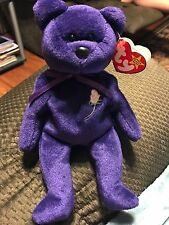 VERY RARE PRINCESS DIANA 1st Edition Beanie Baby MINT CONDITION! PVC PELLETS!!!