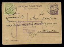 La Pologne 1928 papeterie Uprated enregistrés