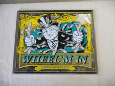 WHEEL'M IN  GLASS  marquee sign  check picture  arcade video game part  ups