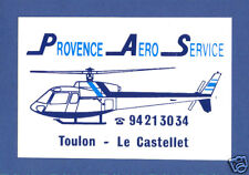 French Provence Aero Service Helikopter  Label Sticke