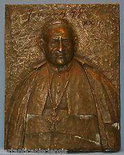 BASSORILIEVO BRONZO PAPA GIOVANNI XXIII  relic reliqua