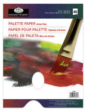 """40 PAGE A4 OIL & ACRYLIC PAINT DISPOSABLE MIXING PALETTE PAPER PAD 9""""x12"""" RD358"""