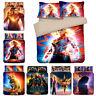Captain Marvel Design Bedding Set 3PC Duvet Cover Pillowcase Single Double King