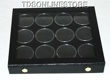 Gem Storage Attached Top Case 12 Jars Black Foam