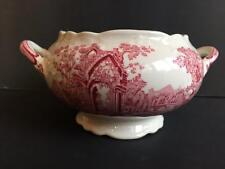 Antique TAYLOR, SMITH & TAYLOR English Abbey Open Sugar Bowl Relish Red