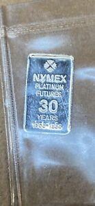 NYMEX Wall Street Trading Floor One Gram Platinum 30th Anniversary Futures Pit