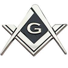 eaa91847c436 Cut Out Shaped Square and Compass Masonic Car Bumper Emblem Disc for  Freemasons
