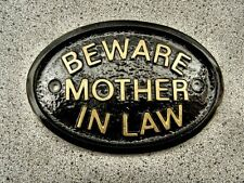 MOTHER IN LAW BEWARE HOUSE DOOR PLAQUE SIGN DRAGON