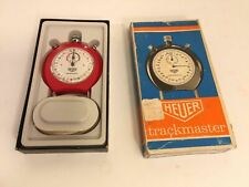 Tag Heuer Trackmaster Vintage Red Stopwatch With Original Box Mde In Switzerland
