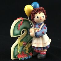 "VTG Raggedy Ann Figurine 4"" by Enesco So Much To Do When You Turn Two 823716"