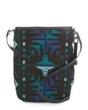 Lucky Brand - Women's - NWT$88 - Blue Asha Embroidered Cross-Body Bucket Bag
