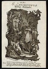 santino incisione 1700 S.LORENZO O'TOOLE ARCIV. DI DUBLINO. wagner