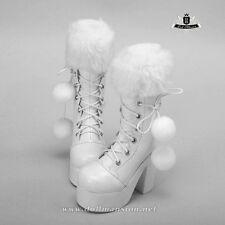 1/4 BJD Boots MSD Dod Dollfie MID EID AOD SOOM LUTS Shoes Snow white Boots 0280