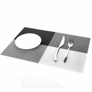 European Styles Table Mats Rectangular Polyesters Coaster Pads Stocked Place Mat