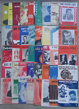SELECTION OF 40 ASSORTED SONG SHEETS.      3/40