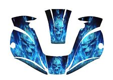 MILLER digital elite WELDING HELMET WRAP DECAL STICKER  jig welder BLUE skull