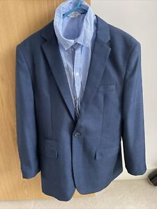 NEXT Signature Boys 2/3Piece Navy Suit 14-15Years 164cm, Blue Shirt Used Once,