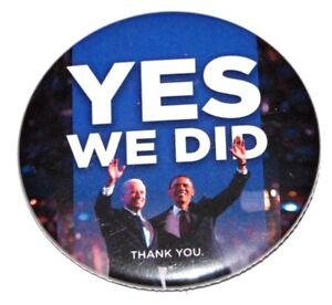 2008 BARACK OBAMA BIDEN campaign pin pinback button political president election