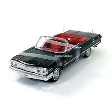 1963 Chevrolet Impala Convertible Black 1:24 Diecast Car Welly 22434