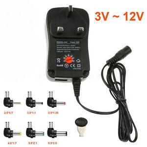 3V 4.5V 5V 6V 7.5V 9V 12V AC to DC Adjustable Multi Voltage Power Supply Adapter
