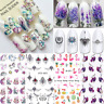 Spring Flower Theme Nail Art Water Decals Transfer Stickers Nail Tips Decoration